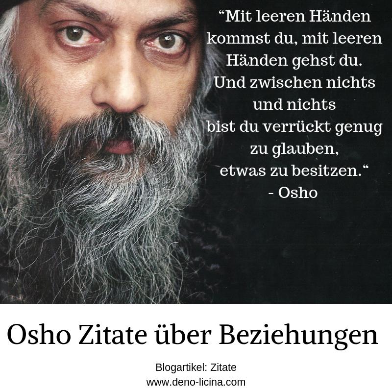 Osho Zitate über das Thema Beziehungen. - Der Poet